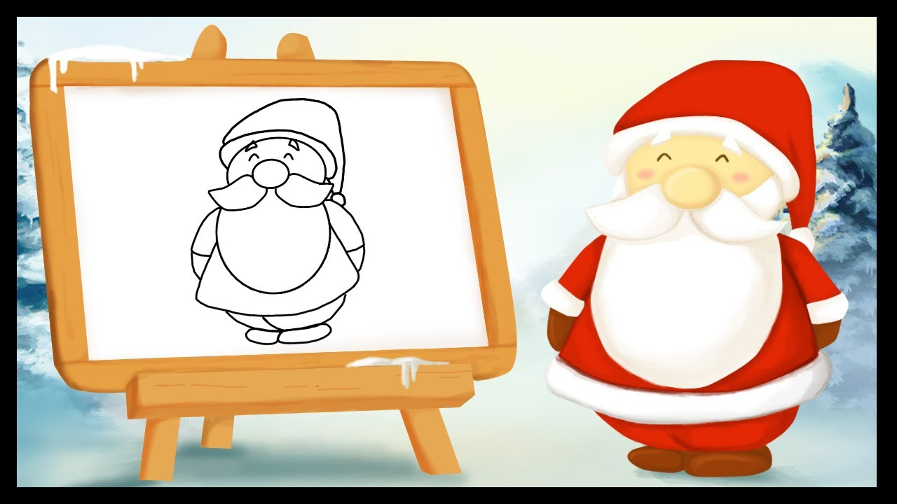 comment dessiner un pere noel facilement. Black Bedroom Furniture Sets. Home Design Ideas